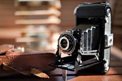 Zeiss folding camera (chrisvantoor) Tags: zeiss nettar ikon anastigmat folding camera old 120 film closeup medium format