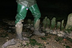 More Daiwa waders at Mucking Flats (essex_mud_explorer) Tags: daiwa coarsefisher hunter uniroyal gates thigh rubber boots thighboots thighwaders rubberboots rubberwaders watstiefel cuissardes gummistiefel rubberlaarzen mudflats estuary creek tidal thamesestuary riverthames essex muckingflats mucking stanfordlehope
