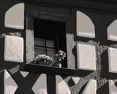 Mittelfranken - Herzogenaurach (Helmut44) Tags: bayern franken mittelfranken landkreiserlangen herzogenaurach altstadt gebäude fachwerkhaus framework sw window fenster