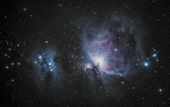 Orion & Running Men Nebula in Orion (alexander_skaletz) Tags: night nebula astro astrophotography nature photography astronomy dark orion sky space nightskys detail m42 germany badenwürtemberg nikond5300 sigma stars longexposure himmel winternight winter cold running