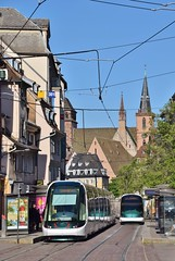 CTS 2018 Faubourg National Strasbourg (eddespan (Edwin)) Tags: tram tramway trolley streetcar strasenbahn strasbourg straatsburg france frankrijk frankreich