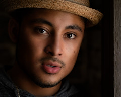 André's Crown (TNrick) Tags: man naturallight windowlight portrait hat lowkey knoxville tennessee knoxvilletennessee easttennessee awakencoffee