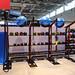 Fitnessgeräte auf der FIBO 2019 in Köln, Deutschland