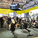 TechnoGym indoor rowing machines demonstration at FIBO 2019 in Cologne, Germany