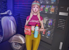 Snack Time (Gabriella Marshdevil ~ Trying to catch up!) Tags: sl secondlife cute kawaii doll taketomi junkfood