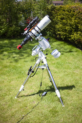 My Astrophotography Rig (AstroBackyard) Tags: astrophotography telescope mount equatorial gem goto eq eq6r pro skywatcher equipment setup gear deep sky photography