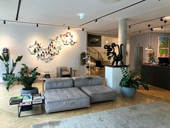 Lend Hotel Lobby (Nancy D. Brown) Tags: lendhotel hotellobby hotelscoop graz austria origamiart