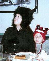 Kids In Winter Hats (booboo_babies) Tags: kids winter girl boy 2010 hat hats cute restaurant illinois throwbackthursday tbt