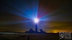 Leuchtturm Westerhever Sand (_Pixelbär_) Tags: germany deutschland nordsee northsea leuchttrum lighthouse westerhever sand westerheversand beams lichtstrahlen