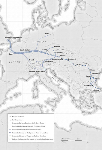 Belmond Venice Simplon-Orient-Express Map