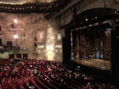 """Hamilton"", Orpheum Theater, San Francisco (Melinda * Young) Tags: theater interior seats dark stage orpheum sanfrancisco play orchestra hamilton rap rapping musical show"