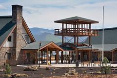 Siskiyou Rest Area and Welcome Center (OregonDOT) Tags: oregondot oregon ashland i5 safetyrestarea siskiyouwelcomecenter cascadia lookout newbuilding landscape atmosphericperspective ladder safety