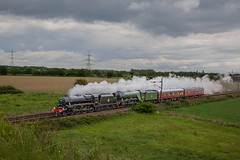 Returning to Southall. (Chris Firth of Wakey.) Tags: shaftholmejunction black five lms 44871 flyingscotsman lner 60103