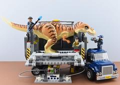 LEGO 75933 T. Rex Transport🚚 (Alex THELEGOFAN) Tags: lego legography minifigure minifigures minifig minifigurine minifigs minifigurines jurassic world fallen kingdom trex transport 75933 set review truck dinosaur