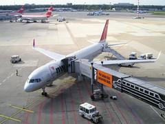 Northwest N546US Boeing 757-200WL at Dusseldorf DUS Germany (thelastvintage) Tags: boeing 757251 first flight date 21051996 19071996 northwestairlines n546us 20062009 deltaairlines northwest 757200wl dusseldorf dus germany