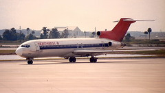 Northwest Airlines N262US Boeing  727-251 arrival at Orlando-International-Airport MCO Florida USA (thelastvintage) Tags: northwest airlines n262usboeing 727251 arrival orlandointernationalairport mco florida usa northwestairlines n262us boeing 110769 021292 broken up sept 93