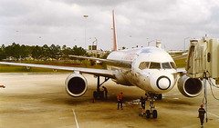 Northwest Airlines Boeing 757 at Orlando International Airport MCO Florida USA (thelastvintage) Tags: northwestairlines boeing 757 orlandointernationalairport mco florida usa