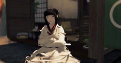 Xin'Luoyang (Zumipop) Tags: secondlifephotography cuteanimegirls blackhair paleskin whitekimono waifumaterial