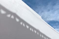 Santorini Wall 2 (josullivan.59) Tags: 2019 agean artistic europe greece greek santorini thira abstract blue cyclades island islands light lightanddark minimalism street texture wall wallpaper white weather outside outdoor shadow day detail greekislands nicelight