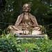 Estatua de Kruba Srivichai a la entrada del Wat Phra That Doi Suthep, Chiang Mai, Tailandia