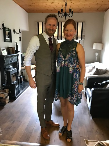 dressed for a wedding..