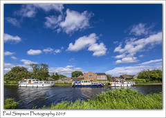 South Yorkshire Navigation Canal (Paul Simpson Photography) Tags: canal water boats southyorkshire barnbydun ships may2019 paulsimpsonphotography sonya77 bluesky imagesof imageof photosof photoof canalboats clouds nature village waterway england britishwaterways grass outdoorlife livingonthewater houseboats