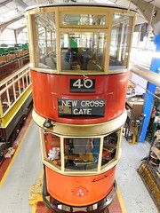 In the tram workshop (White Pass1) Tags: tram workshop tramworkshop crich nationaltramwaymuseum londonpassengertransportboard