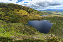 Sgilloge Lochs (Mountain Bracken) Tags: 2019 comeraghs lake landscape lough outdoor rocks sgillogeloughs spring water clouds green hiking ireland loch mountain munster sky stones waterford