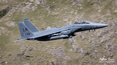 USAF Boeing F-15E Strike Eagle 91-0318 low level in the Lake District (NDSD) Tags: lake plane flying eagle district aviation low jet pass level valley cumbria strike boeing usaf narrow raf f15e