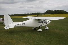 G-CJCO (IndiaEcho) Tags: light england canon airport general aircraft aviation hampshire aeroplane civil popham basingstoke airfield eghp eos fly microlight in 1000d gcjco ikarus c42