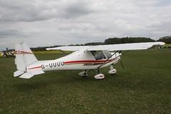G-UUUU (IndiaEcho) Tags: light england canon airport general aircraft aviation hampshire aeroplane civil popham basingstoke airfield eghp eos fly microlight in 1000d ikarus c42 guuuu