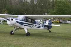G-ARLG (IndiaEcho) Tags: light england canon airport general aircraft aviation hampshire aeroplane civil popham basingstoke airfield eghp eos fly microlight in 1000d d4 auster garlg