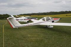 G-BLUV (IndiaEcho) Tags: light england canon airport general aircraft aviation hampshire aeroplane civil popham basingstoke airfield eghp eos fly microlight in 1000d 109 grob gbluv