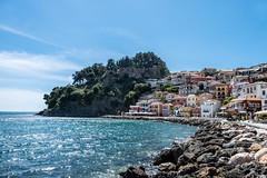 Parga and its castle (glukorizon) Tags: beach burcht dorp greece griekenland griekenlandvanwestnaaroost holiday ionischeeilanden ouderreis parenttrip parga sea strand stronghold vakantie vandeionischeeilandennaarathene village zee
