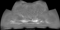Animation of a cloudy evening on Mars - sol 2417 (Thomas Appéré) Tags: mars curiosity rover animation clouds nuages cloud nuage science space espace nature exploration