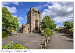 St Mary's, Stainforth, South Yorkshire (Paul Simpson Photography) Tags: stmarys stmary stainforth southyorkshire paulsimpsonphotography sunshine sonya77 imagesof imageof photoof photosof church churches villagechurch england yorkshire religion religiousbuilding stonebuilding oldengland trees bluesky tower alleyway road uk