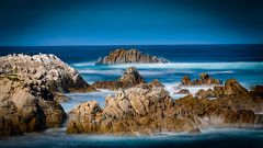 Rocks in the Mist No.4 (CDay DaytimeStudios w /1 Million views) Tags: ocean california ca sky seascape beach water landscape rocks montereybay bluesky highway1 pebblebeach 17miledrive coastline pacificgrove pacificcoast pacificcoasthighway montereyca carmelca