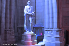 George Tries To Catch The Rainbow (Trish Mayo) Tags: sculpture statue nationalcathedral georgewashington leelawrie cathedral church washingtondc