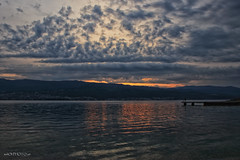 Cloudy morning (malioli) Tags: sunrise down swa seascape clouds cloudy sky sun adriatic croatia hrvatska europe canon