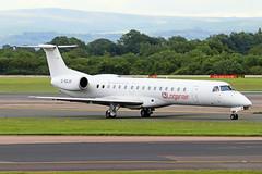 G-SAJH Embraer ERJ.145EU Loganair MAN 28MAY19 (Ken Fielding) Tags: gsajh embraer erj145eu loganair aircraft airplane airliner jet regionaljet commuter