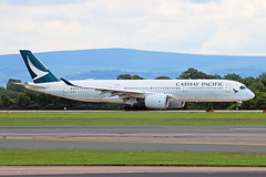 B-LRC Airbus A350-941 Cathay Pacific Airways MAN 28MAY19 (Ken Fielding) Tags: blrc airbus a350941 cathaypacificairways aircraft airplane airliner jet jetliner widebody