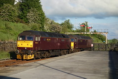 Taking Over (Callum Nicolson) Tags: chester carlisle hellifield dalesman 1z56 47854 57313 rail company railway railways coast west 47 57 class wcr wcrc