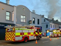 Broadway Cafe Fire, Newtownards, Tuesday 28th May 2019 (John D McDonald) Tags: iphone appleiphone iphonexr appleiphonexr fire firebrigade fireandrescueservice firemen fireman firefighters nifrs fireengine fireengines fireappliance fireappliances newtownards ards millstreet poundstreet broadwaycafe chipshop fishandchipshop chippy chippie chipper smoke countydown codown northernireland ni ulster geotagged
