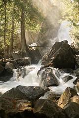 Falls Creek Falls (bombeeney) Tags: fallscreekcampground sunshine lightrays easternwashington winthrop waterfall
