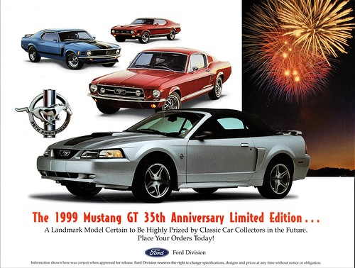 1999 Ford Mustang GT 35th Anniversary Limited Edition