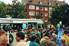 Die beiden R1-Prototypen 2701 und 2702 fahren lediglich für geladene Gäste auf der beschleunigten Verbindung. Erst mit Inbetriebnahme der R2-Serienwagen kommen auf der Verbindung auch planmäßig Niederflurwagen zum Einsatz (Bild: Thomas Badalec) (Frederik Buchleitner) Tags: 2701 linie20 moosach moosachcosimaexpress munich münchen r1wagen strasenbahn streetcar tram trambahn