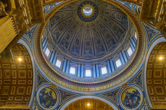 Dome at St Peter's (street level) Tags: italy stpetersbasilica dome michelangelo architecture rome italia roma cathedral travel europe vaticancity