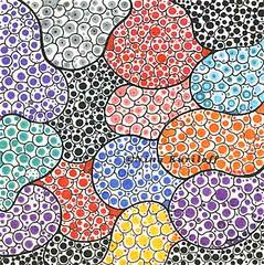 Compartments II (ninakuriloff) Tags: abstractart drawing colorful dots organicshapes smalldrawing pensonpaper coloredpencils
