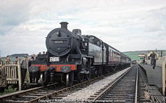 1961 - Fowler, at Parsley Hay (Robert Gadsdon) Tags: 1961 slsmls highpeakrailtour lms fowler 264t 42379 parsleyhaystation steam withdrawn scrapped closedstation