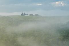 Tuscan mist (stephen.darlington) Tags: italy tuscany mist cappelladellamadonnadivitaleta toscana italia church landscape valdorcia pienza